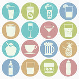 Drink icons set Stock Photo