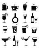 Drink icons set Royalty Free Stock Images