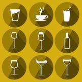 Drink Icons royalty free illustration