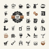 Drink Icons vector set royalty free illustration