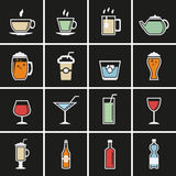 Drink icons Stock Images