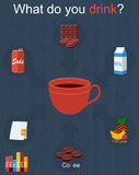 Drink infographic Royalty Free Stock Photography