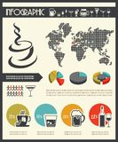 Drink infographics Royalty Free Stock Images