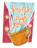 Drink the inspiration!. Let the cup of magic beverage inspire you Stock Images