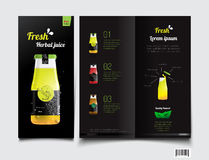 Drink juice. brochure template. vector file Royalty Free Stock Photography