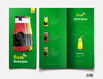 Drink juice. brochure template. vector file. Drink juice. brochure template. suitable use for beverage industries. vector file Royalty Free Illustration