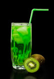 Drink with kiwi and ice Royalty Free Stock Photos