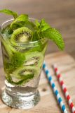 Drink with Kiwi. Selective focus. Stock Photography