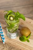 Drink with Kiwi. Selective focus. Stock Image