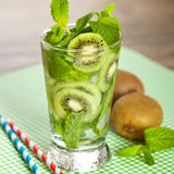 Drink with Kiwi. Selective focus. Stock Photos