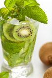 Drink with Kiwi. Selective focus. Royalty Free Stock Photo