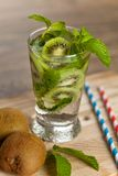 Drink with Kiwi. Selective focus. Stock Photo