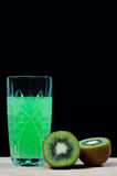 Drink of kiwi, soda Royalty Free Stock Images