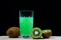 Drink of kiwi, soda Royalty Free Stock Image