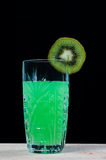 Drink of kiwi, soda Royalty Free Stock Photo