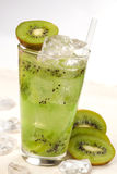 Drink with kiwi Royalty Free Stock Images