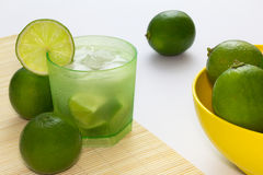 Drink known as Caipirinha - Typical brazilian cocktail Royalty Free Stock Image