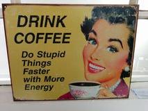 Drink koffie Royalty-vrije Stock Afbeelding