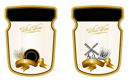 Drink Label. Vector illustration - labels for alcoholic beverages royalty free illustration