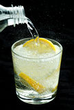 Drink with lemon Stock Photos
