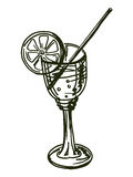 Drink with lemon Royalty Free Stock Photography