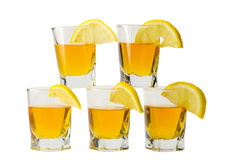Drink and lemon Stock Image