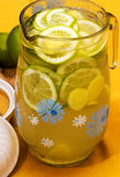 Drink with lemon, ginger and honey. Stock Image