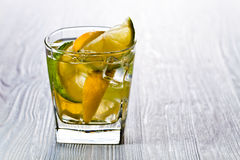Drink with lemon and ice Stock Image