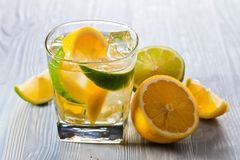 Drink with lemon and ice Stock Photo