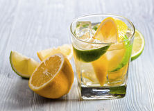 Drink with lemon and ice Stock Images