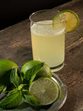 Drink of lemon and mint. Stock Photos