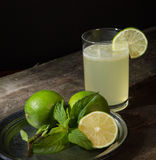 Drink of lemon and mint. Stock Photo