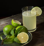 Drink of lemon and mint. Stock Photography
