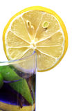 Drink and lemon slice Royalty Free Stock Images