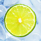 Drink with lime Royalty Free Stock Photography