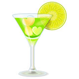 Drink lime green Stock Image