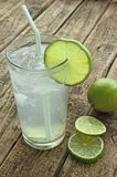 Drink with lime and ice Stock Image