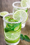 Drink of lime and mint Royalty Free Stock Photography