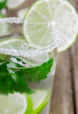 Drink of lime and mint Royalty Free Stock Images
