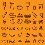 drink line craft icons set Stock Photo