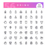 Drink Line Icons Set Royalty Free Stock Photography