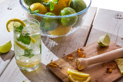 Drink made of citrus fruit with ice Stock Images