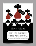 Drink Me Bottle. Black Friday Banner Postcard Royalty Free Stock Images