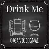 Drink me. Elements on the theme of the restaurant business.  Cha Royalty Free Stock Photography