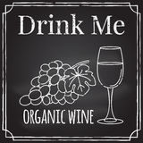 Drink me. Elements on the theme of the restaurant business.  Cha Royalty Free Stock Images