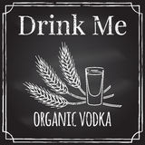 Drink me. Elements on the theme of the restaurant business.  Cha Stock Photos