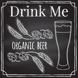 Drink me. Elements on the theme of the restaurant business.  Cha Royalty Free Stock Image