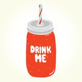 Drink me jar isolated vector Stock Images