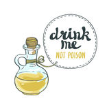 Drink me jar isolated vector illustration. Stock Images