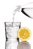 Drink med citronen arkivbild